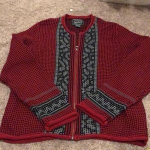 Nwot woolrich zip up sweater